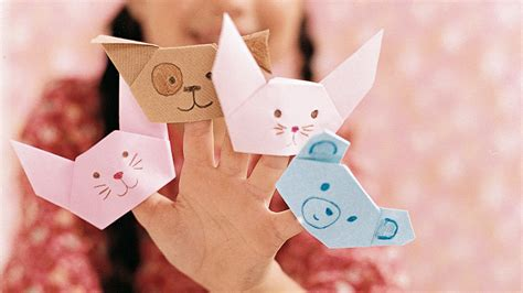 How To Make A Origami Finger Puppet - origami finger puppet martha stewart