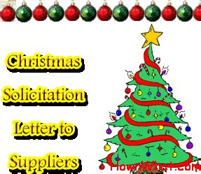christmas donation request sle solicitation letter to suppliers