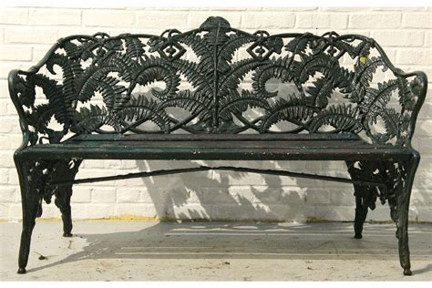 garden bench cast iron cast iron wood fern pattern garden bench
