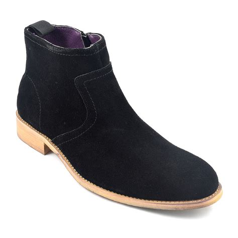 zip up boots find mens black suede zip up boots gucinari design