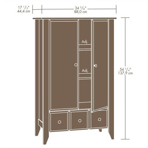 sauder shoal creek armoire jamocha armoire in jamocha wood 409934