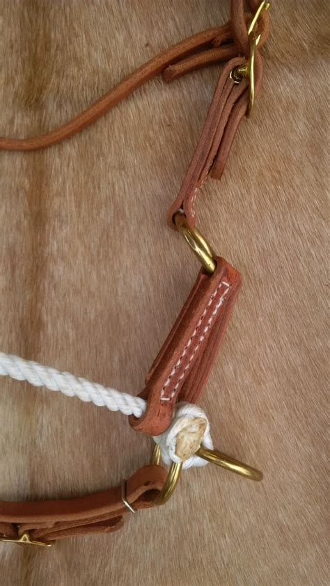 Handmade Leather Usa - leather rope sidepull