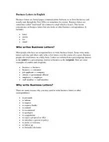Business Letters English Examples format of letters in english best template collection