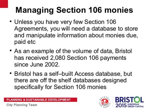 section 106 funding jim cliffe planning obligations manager bristol city