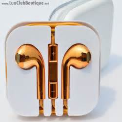 colored apple headphones apple compatible headphones gold