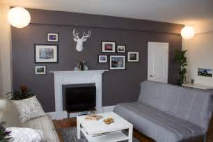 medium grey feature wall interiors pinterest