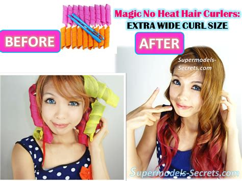 Hair Curlers No Heat by Magic No Heat Hair Curlers Large Wide Size