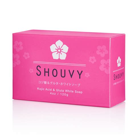 Gluta White kojic and glutathione whitening soap shouvy