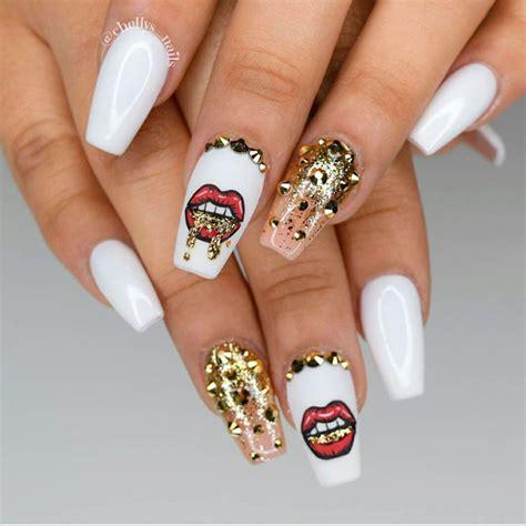 To Trendy White awesome white acrylic nails naildesignsjournal