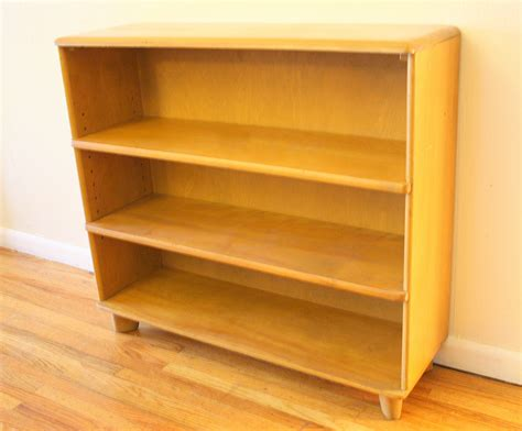 Book Shelf Bench by Heywood Wakefield Corner Cabinet Bench Bookshelf