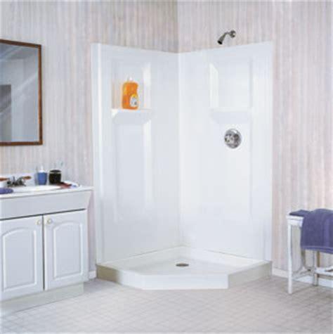 Fiberglass Corner Shower by E L Mustee Sons 738c Durawall 174 Fiberglass Neo Angle