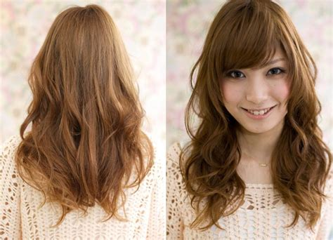 perms for long hair with bangs pretty filipinas digital perm photos