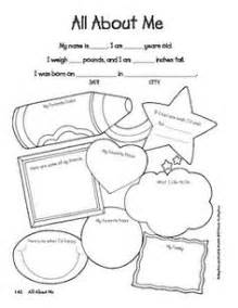 All About My Template by 15 Best Images Of All About My Family Preschool Worksheet