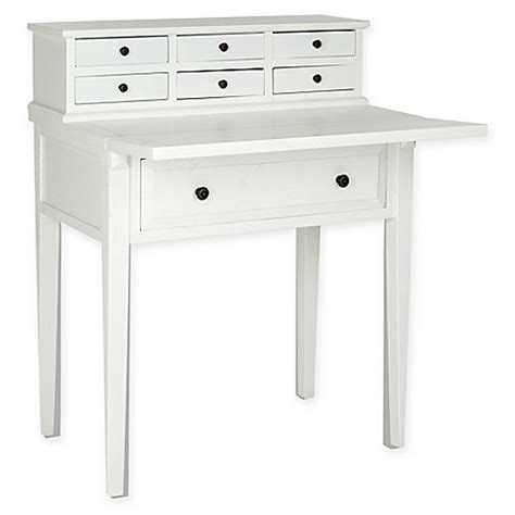 safavieh abigail fold desk buy safavieh abigail 7 drawer fold desk in white from