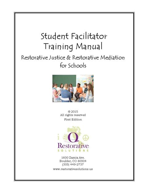restorative justice education products