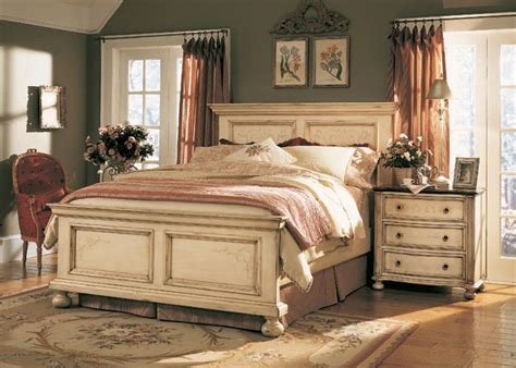 hooker bedroom set the furniture detailed antique white panel bedroom set quot sable creek quot collection by