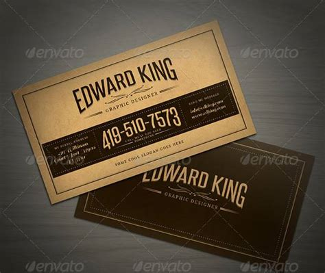 21 best vintage style business cards free premium