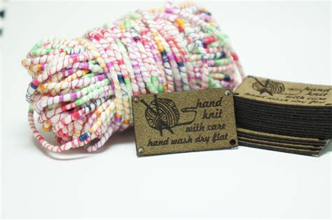 Labels For Handmade Knitted Items - knit with care care labels for knit items with holes for