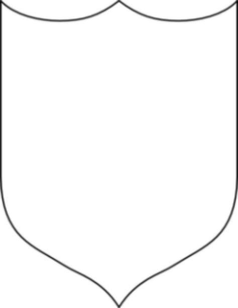 blank shield template printable pictures to pin on