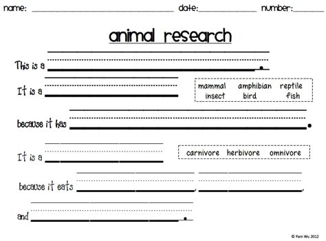 Ms Wu Teaches New Product Animal Report Book Animal Report Template 5th Grade