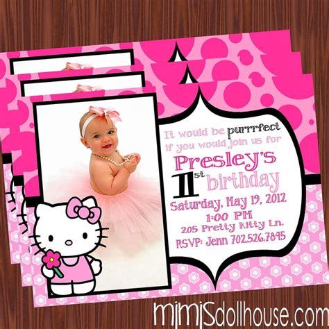 hello kitty themed invitation hello kitty invitation hello kitty birthday invitation pdf