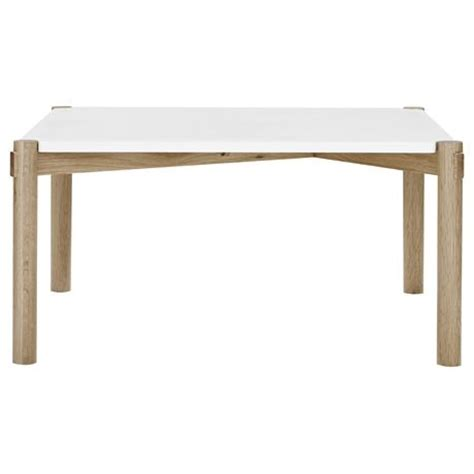 holt square coffee table in oak frame with white top was