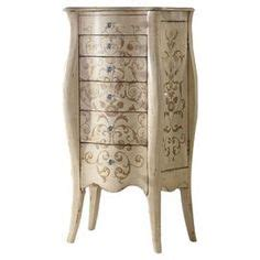 hardwood jewelry armoire perfect for displaying a lush floral arrangement or stowing board games and dvds this