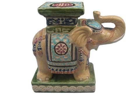 antique ceramic elephant table vintage ceramic elephant plant stand omero home