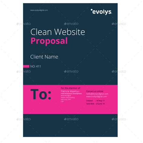 web design proposal graphicriver clean modern corporate website design proposal by