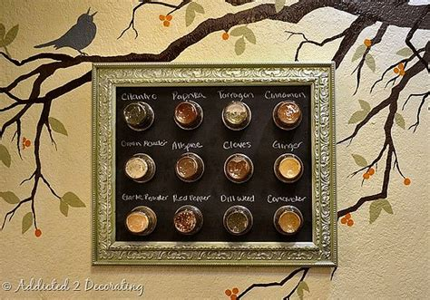 diy magnetic chalkboard spice rack 8 diy spice rack ideas to spice up your kitchen