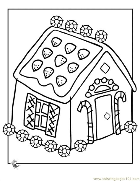 coloring pages gingerbread house coloring architecture