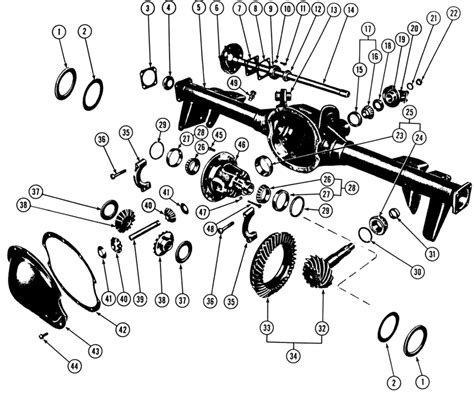 diagram of rear differential 12 bolt chevy differential exploded view parts wiring