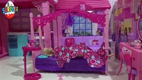 barbie doll bedroom set barbie s bedroom glam vanity furniture set youtube