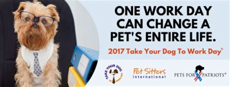 international puppy day 2017 2017 take your to work day 174 caign to raise awareness for pets for patriots