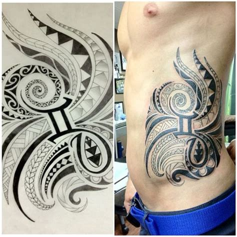 tribal gemini tattoos for guys tribal gemini zodiac on rib gemini designs