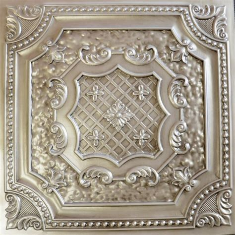 Tin Ceiling Tiles Dct 04 Antique White Faux Tin Ceiling Tile 24x24 Ceiling