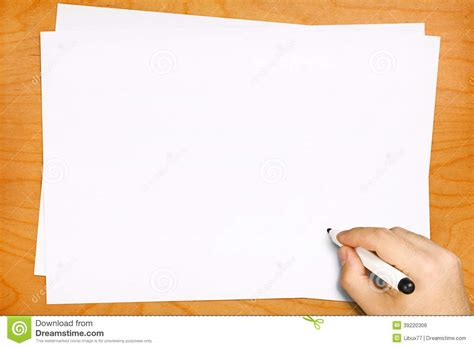 writing paper background writing on blank white sheets stock photo