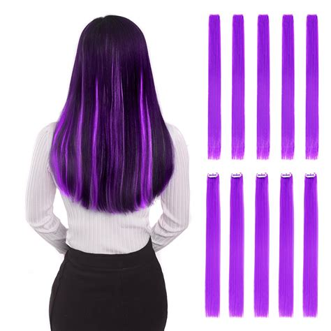color hair extensions clip in hawkko 20pcs colored clip in hair