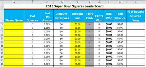 bowl spreadsheet template excel spreadsheets help 2015 bowl squares
