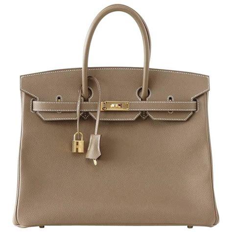 Fashion Bag 35 hermes birkin 35 bag etoupe taupe epsom coveted gold hardware for sale at 1stdibs