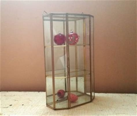brass and glass display cabinet glass curio display cabinet thing