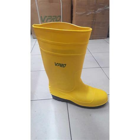 Harga Sepatu Boot Karet Warna Kuning jual sepatu safety boot karet murah merk vpro oleh