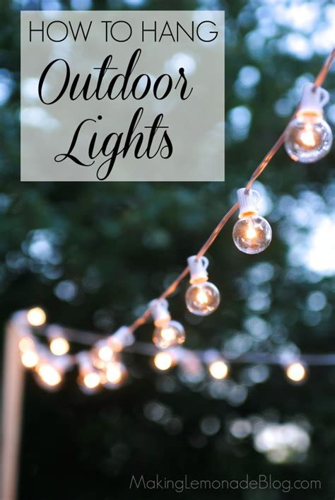 How to Hang Outdoor String Lights (The Deck Diaries, Part