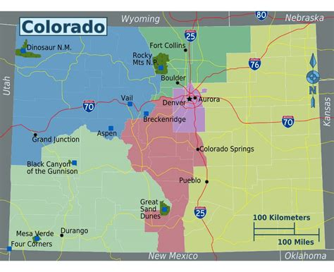 detailed map of colorado usa state of colorado map afputra