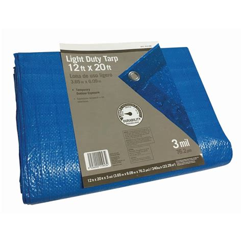 sigman 12 ft x 20 ft blue tarp bpf012020 the home depot