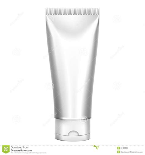 blank cosmetics packages tube template stock vector
