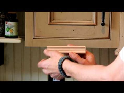 Install Crown Molding On Kitchen Cabinets by Light Rail Moldings Youtube