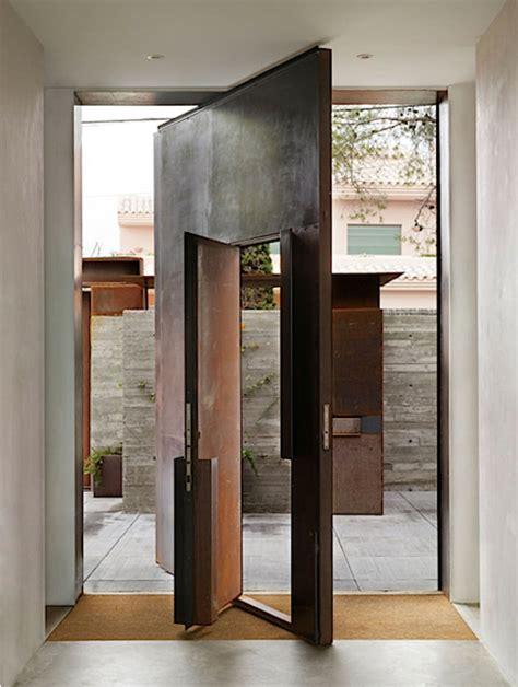 pivot swing door corten steel pivoted front door with inset swing door