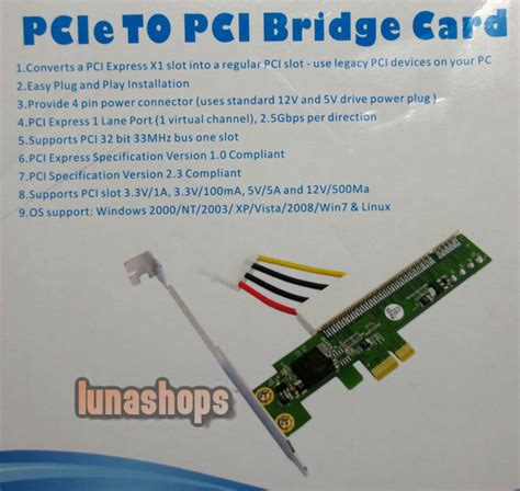 pci e express slot expresscard to pci card