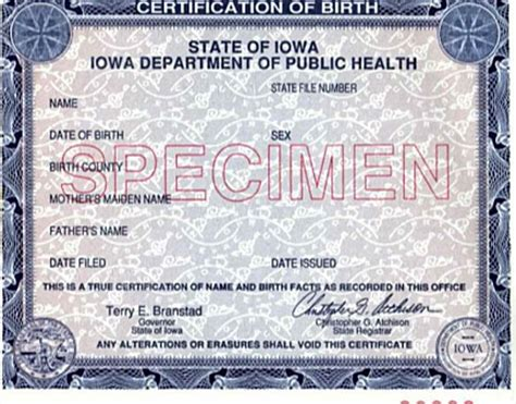 Iowa State Birth Records Thousands Of Iowans Encouraged To Get A New Birth Certificate